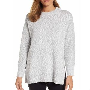 LOU & GREY Marled Knit Tunic Sweater Size Large
